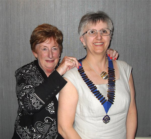 Larkhall Handover Lorna Dick and Esther Bell